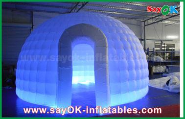 중국 210D 옥스포드 피복 팽창식 이글루 공기 천막 LED 빛을 가진 둥근 돔 천막 협력 업체