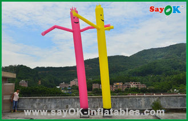 중국 휴일 훈장 빨강/황색 팽창식 관 남자 상업적인 춤 공기 남자 협력 업체