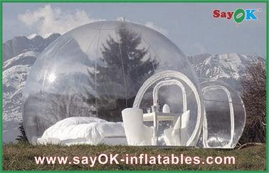 중국 2 남자를 위한 큰 옥외 팽창식 천막 거품 투명한 팽창식 야영 천막 협력 업체