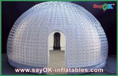 중국 8명의 사람 비닐 팽창식 공기 천막 돔 오락을 위한 팽창식 거품 천막 협력 업체