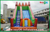 중국 안전 PVC 방수포 놀기를 위한 팽창식 도약자 활주 노란/녹색 공장