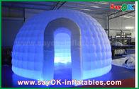 양질 팽창식 공기 천막 & 210D 옥스포드 피복 팽창식 이글루 공기 천막 LED 빛을 가진 둥근 돔 천막 판매