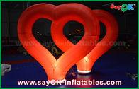 양질 팽창식 공기 천막 & LED 빛을 가진 Wedding 옥외 팽창식 훈장 빨간 나일론 팽창식 심장 판매