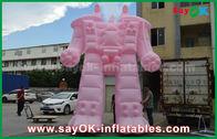 중국 외부 광고 제품을 위한 분홍색 옥스포드 피복/PVC 팽창식 로봇 공장