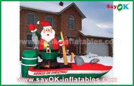 중국 Customzied 크리스마스를 위한 각종 팽창식 산타클로스 만화 인물 공장