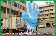 중국 거인 옥스포드 주문 팽창식 제품, 2m 사건을 위한 키 큰 팽창식 파란 손 모형 공장
