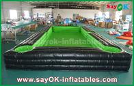 중국 세륨 송풍기를 가진 휴대용 거대한 외부 PVC 방수포 팽창식 축구/테이블 테니스 코트 공장