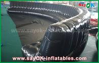 중국 환경 친화적인 주문 팽창식 제품 6 - 10m 검정은 신비하게 0.6mm PVC 팽창식 소파를 밀봉했습니다 공장