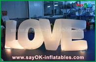 중국 당/결혼식 훈장을 위한 지도된 빛을 가진 다채로운 팽창식 편지 사랑 공장