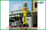 중국 광고를 위한 노란 팽창식 공기 무희 요리 기구, 팽창식 하늘 무희 공장