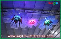 중국 1m Dia RGB 점화 훈장을 가진 팽창식 거는 백합 꽃 공장