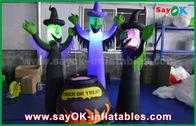 중국 할로윈 동안 LED 점화를 가진 210D 옥스포드 피복 팽창식 무서운 유령 그리고 마술 단지 공장