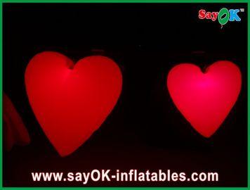 축제, 직경 1.5M를 위한 지도된 빛을 가진 사랑스러운 큰 빨간 팽창식 심혼