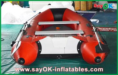 0.9mm PVC 팽창식 배 알루미늄 합금 지면 4-6 사람 카누로 가는 카약