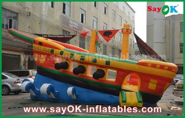 노랗고/빨강/파란 팽창식 해적선 상업 광고 성곽 되튐 집
