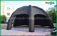송풍기를 가진 까만 PVC 팽창식 공기 천막/광고 돔 거미 천막